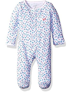 Baby Girls' Footie (115g064), Floral, New Born