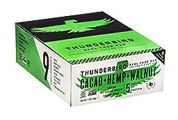 Thunderbird Gluten Free Non-GMO Vegan Cacao Hemp Walnut Bars, 1.7 Oz. - Pack of 15