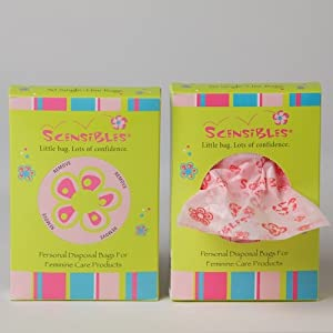 Scensibles Personal Disposal Bags for Sanitary Pads and Tampons