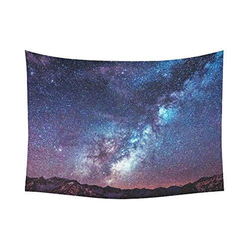 Artsadd Custom Wall Tapestry Mountain Stars Cotton Linen Tapestry 60 x 80]()