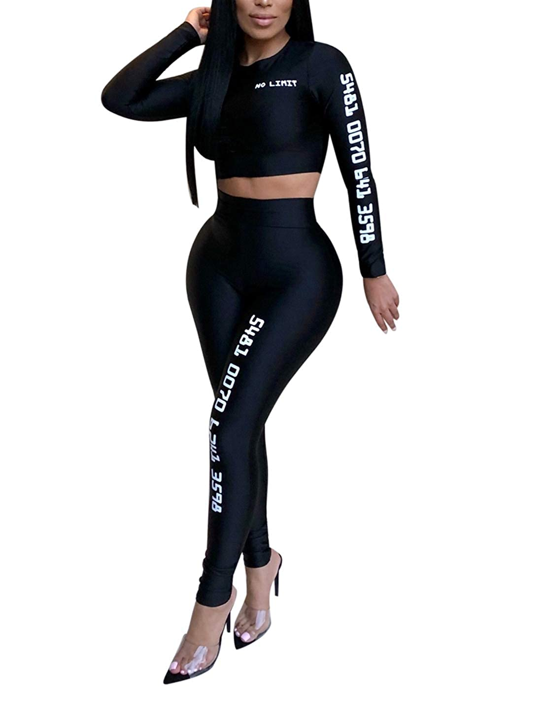 Naliha Jumpsuits for Women 2 Pieces Suit Sport Workout Jumpsuit and Rompers