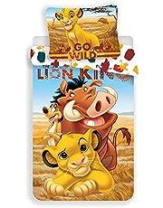 The King Lion - Enkelt påslakan barn 140 x 200-100 % bomullslinne från sängen - barn - flicka