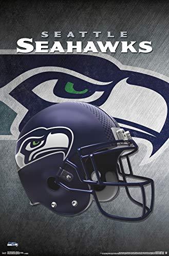 Trends International Seattle Seahawks-Helmet Mount Bundle Wall Poster, 22.375 x 34, Multi