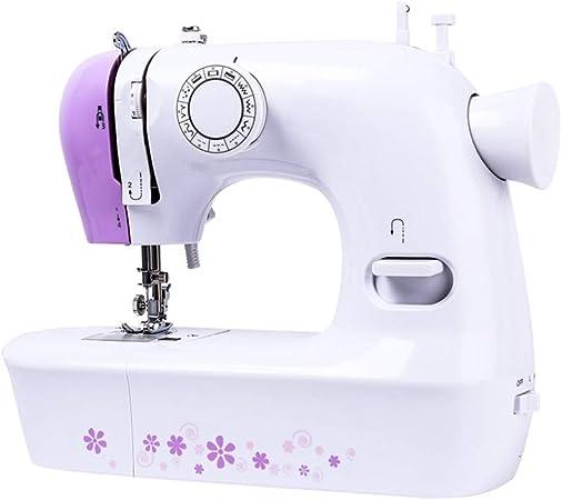 XF Máquina de Coser, Mini máquina de reparación Manual eléctrica portátil, Adecuada for Todos los Trabajos de Costura manuales en el hogar, púrpura Herramientas manuales caseras: Amazon.es: Hogar