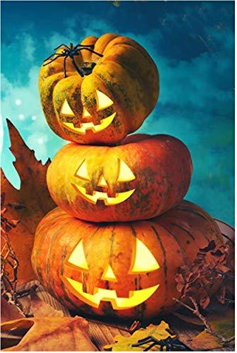 Giftwrap Etc Halloween Garden Flag Fall Decorations 12 X 18 Double Sided Classic Jack O Lanterns Pumpkins Rustic Autumn Decor