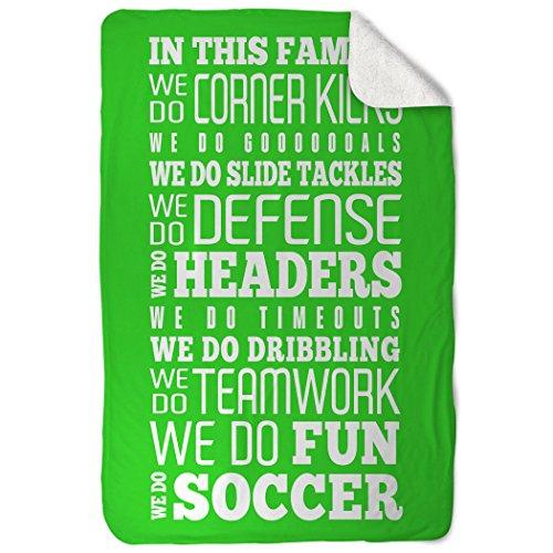 Price comparison product image ChalkTalkSPORTS Soccer Sherpa Fleece Blanket | We Do Soccer | Green