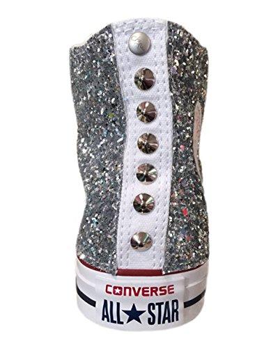 Star Cono Argento Con Glitter Super All Borchie Converse Basso 57Yn8Fxx