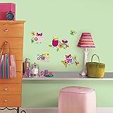 27 New Zutano Owls Wall Decals Owl Baby Nursery Stickers Girls Room Pink Decor