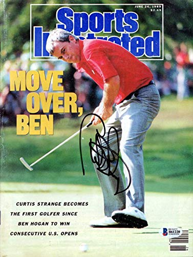 - Curtis Strange Autographed Sports Illustrated Magazine Beckett BAS #B61220 - Beckett Authentication - Autographed Golf Magazines