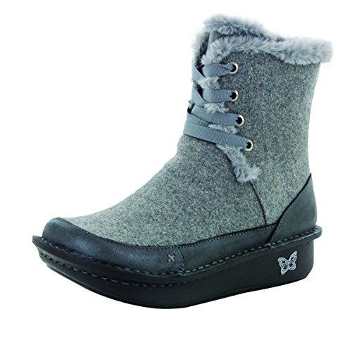 Alegria Womens Twisp Boot Ash Wool Size 35 EU (5-5.5 M US Women)