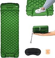 kksmile Sleeping Pad for Camping, Self Inflating Sleeping Pad, Upgraded Ultralight Sleeping Pad Built-in Pump,