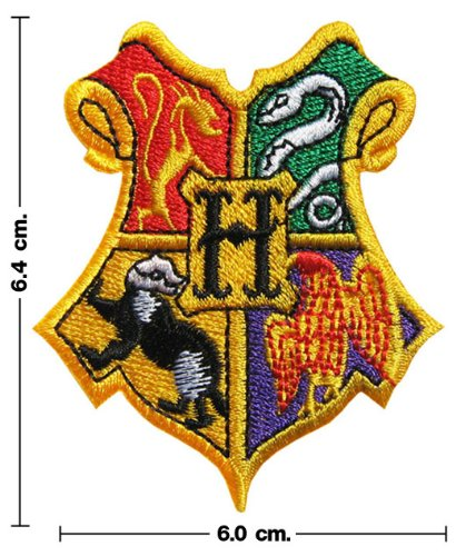 Harry Potter HOGWARTS SCHOOL Crest Iron On Patch