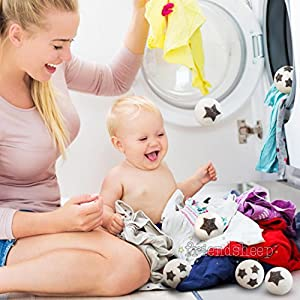 Organic Eco Wool Dryer Balls - 6 Pack - 100% Handmade, Fair Trade, Organic, No Lint - Premium Quality