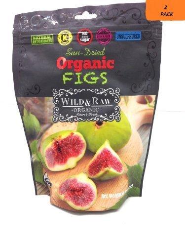 Sun-dried Turkish Organic Figs,natural Antioxidants,no Added Sugar (2 Packs) by Wild & Raw