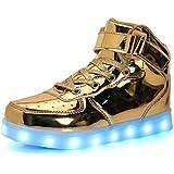 SLEVEL LED Light up Shoes USB Flashing Sneakers...