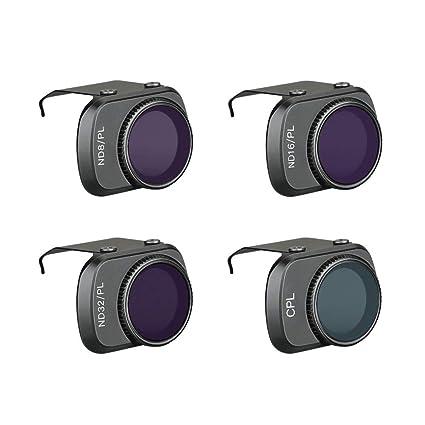 SHSH Filtro de Lente de cámara para dji Mavic Mini Drone, 4 Piezas ...