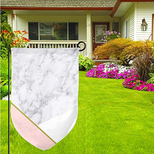 """Vintage Pink Marble Outdoor Garden Flag - 12""""Ã-18†Double-Sided Decorative House Welcome Burlap Flag (33 1 3 Pink Flag)"""
