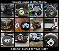 32 Inch, Black American Unlimited Custom JL Spare Tire Cover You Design Full Color Personalized JL Tire Cover with Backup Camera Hole Universal Fit for SUV JL Accessories 2018+