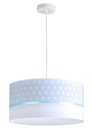 Lampara de techo infantil/Lampara colgante bebe/Lampara para habitacion infantil- Gris (AZUL)