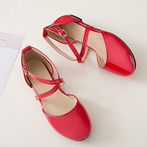 Red Women Zanpa Shoes 3 Flat Sweet 7AFq1SHF
