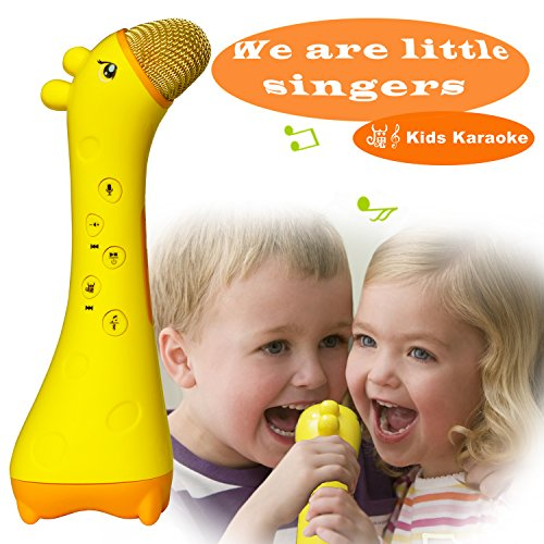 NeWisdom Magic Voice Kids Karaoke Microphone, Learning Educational Travel Toy Gifts for Boys Girls 3 4 5 6 + Year Old - Gift Packing