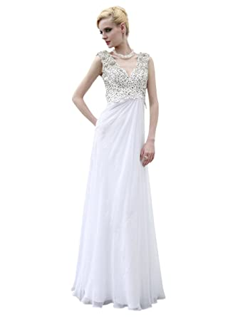 Elliot Claire London Ivory Sleeveless Empire Wedding Dress