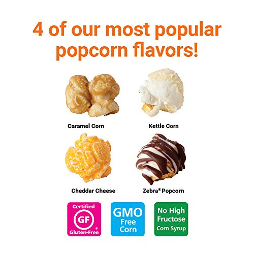 Popcornopolis Popcorn 12 Cone Snack Pack (Gift cone)