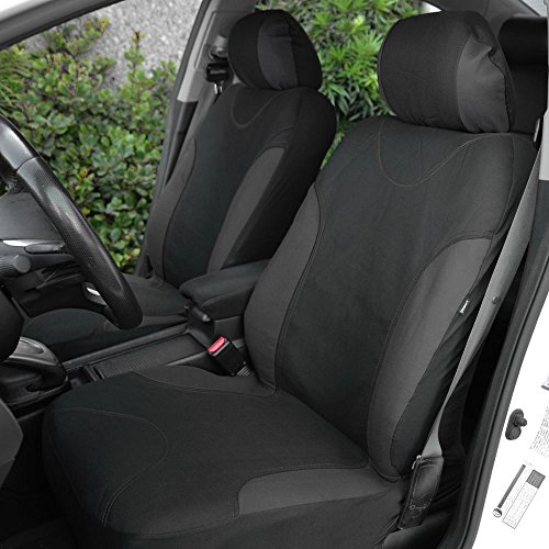 Amazon BDK Charcoal Trim Black Car Seat Covers Full 9pc Set