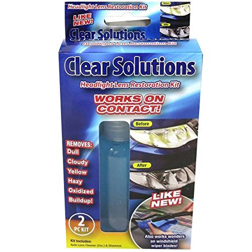 Clear Solutions Headlight Lens Restoration Kit (1 Pack)