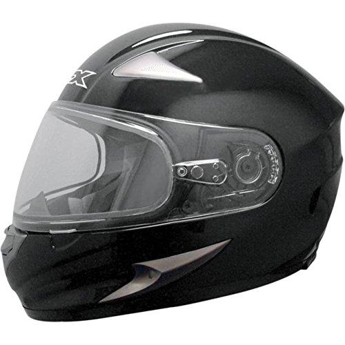AFX Magnus Solid Snow Helmet with Dual Lens Shield , Size: 4XL, Primary Color: Black, Distinct Name: Black, Helmet Type: Full-face Helmets, Helmet Category: Snow, Gender: Mens/Unisex ()