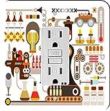 Rikki Knight 8873 Pharmaceutical Medical Factory Illustration Design Light Switch Plate
