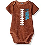 Gerber Childrenswear NFL Carolina Panthers Boys Football Bodysuit, 3-6 Months, Brown