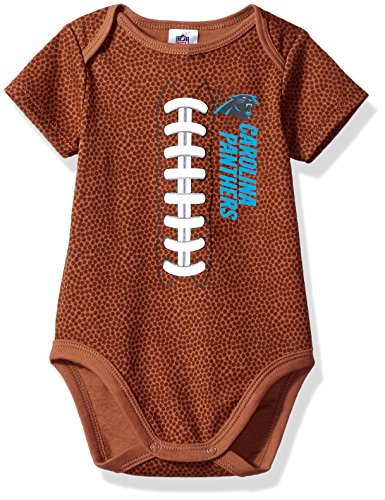 Gerber Childrenswear NFL Carolina Panthers Boys Football Bodysuit, 3-6 Months, Brown (Panthers Sports Watch)