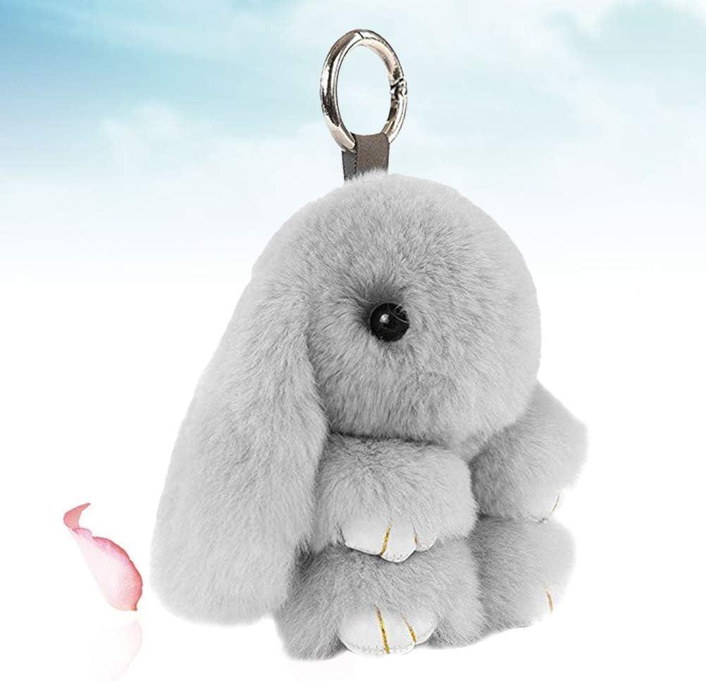 gris claro Ogquaton Colgante del bolso del animal de peluche lindo del h/ámster de la calidad del llavero de la calidad superior para el bolso