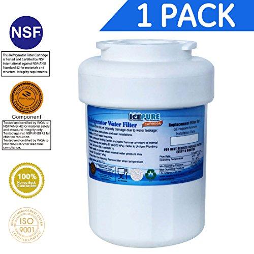 Price comparison product image Icepure RWF0600A Compatible With GE MWF,MWFP,MWFA,MWFAP,MWFINT,GWF,GWF01,GWF06,GWFA,HWF,HWFA,FMG-1 Refrigerator Water Filter, 1PACK