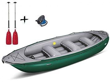 gumotex - Ontario 450S verde canoa hinchable + remos + ...