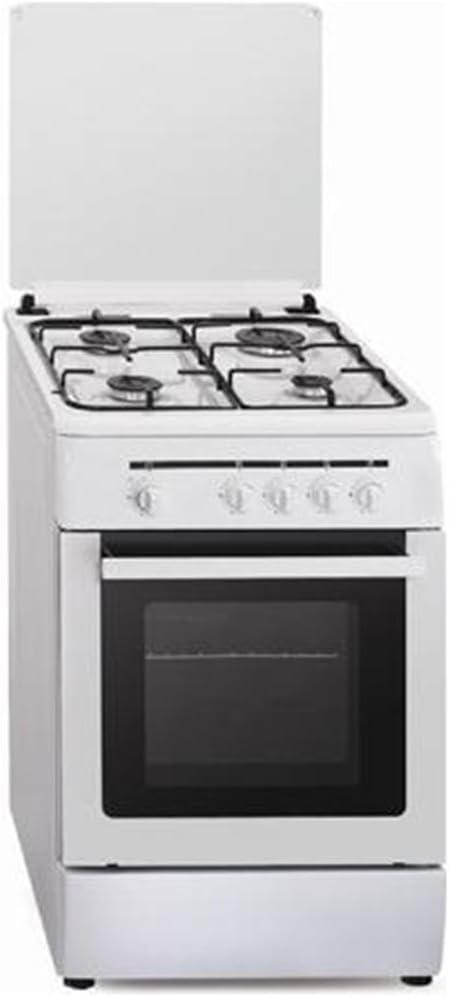 Vitrokitchen CB55BB - Cocina (53 L, 1800 W, propano/butano, Gas, Giratorio, Frente) Color blanco