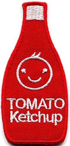 MINEJ Tomato ketchup catsup retro embroidered applique iron-on patch