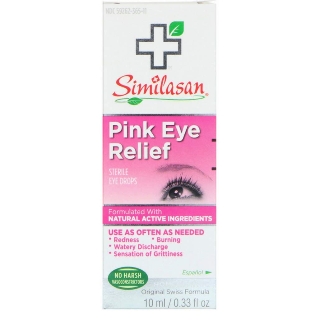 Similasan pink Eye Relief Sterile Eye Drops 0.33 Oz (pack of 3)