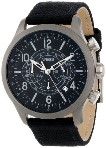 Versus-by-Versace-Mens-SGL010013-Soho-Round-Gun-Ion-Plated-Stainless-Steel-Black-Canvas-Strap-Watch