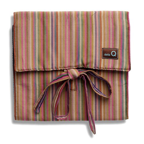 della Q The Que Knitting Case for Standard-Size Circular Knitting Needles; 016 Brown Stripes 155-1-016 by della Q