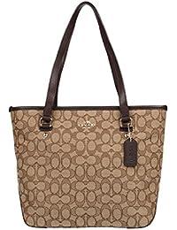 Outline Signature Zip Top Tote Shoulder Bag