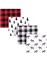 Unisex Baby Cotton Flannel Receiving Blankets, Moose, One Size