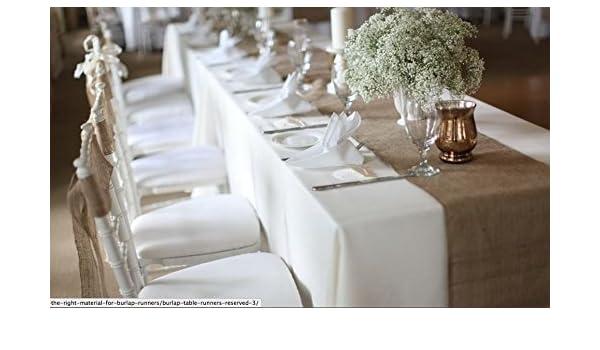 "30 Burlap Table Runners 13/""x108/"" Wedding Event Decor 100/% Natural Refined Jute"