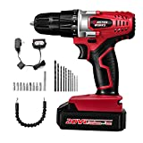 20V Cordless Drill, Power Drill Set with 3/8″ Keyless Chuck, Variable Speed, 16 Position with LED Light, 22pcs Drill/Driver Bits Included, Masterworks MW316 Review