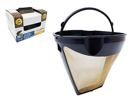 Goldtone, filtro de café permanente #4 estilo cono de repuesto ...