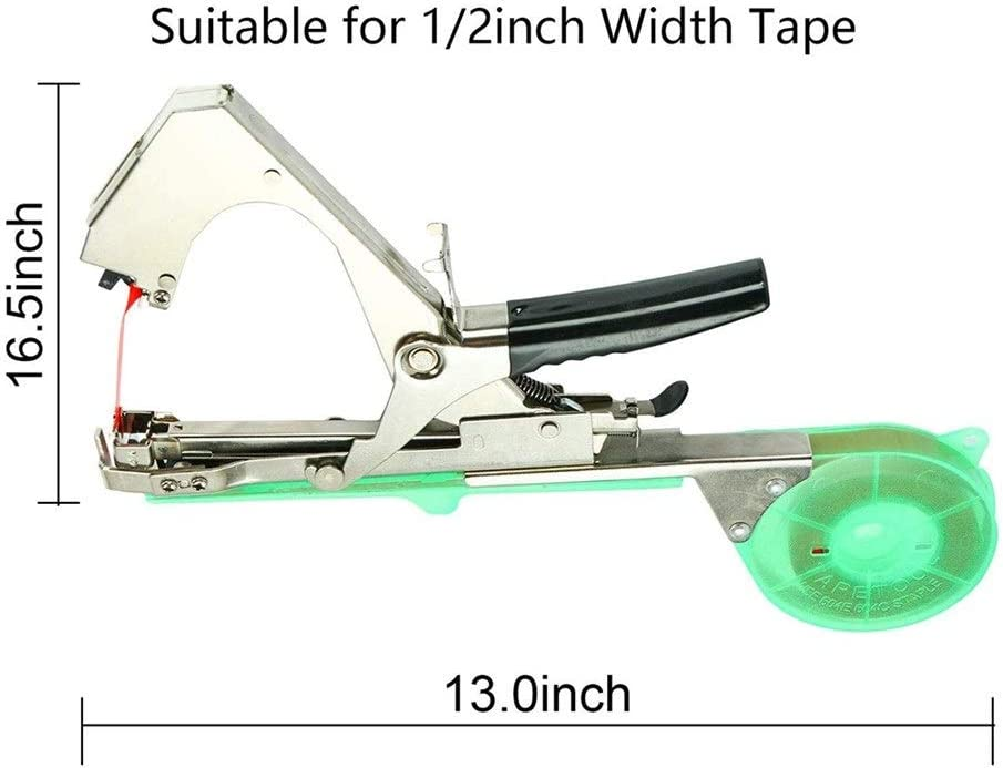 Plant Gardens Tape Machine, Strapping Machine, Used On Vegetables, Grapes, Tomatoes, Cucumbers, Peppers, Flowers gardening shears (Color : 1 set) 1pcs Binding Machine