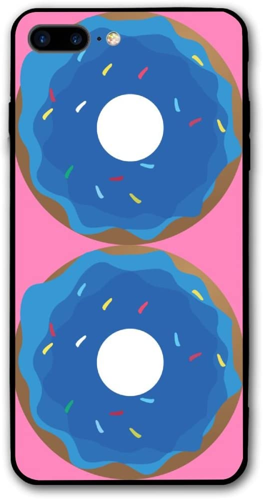 Blue Dougnut Food iPhone 8 Plus/iPhone 7 Plus Case,Hard PC Protective Graphic Design Mobile Phone Shell 3D Print Case Cover 5.5 Inch for iPhone 7P / 8P