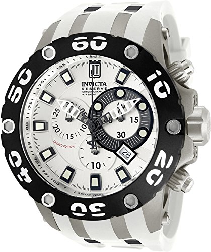 Jason Taylor for Invicta Collection 12947 Chronograph Silver Dial White Polyurethane (Silver Dial Polyurethane)