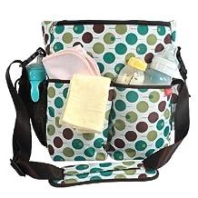 Baby Milk Bottle Diaper Polkdot Bag Mum Shoulder Handbag K1725 (Blue)